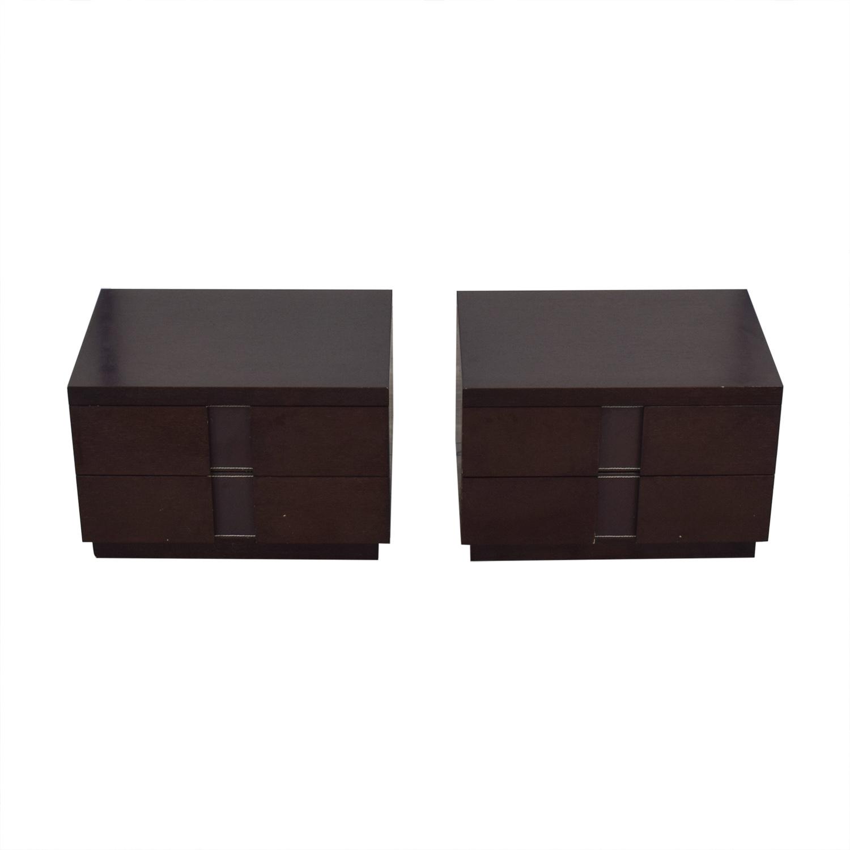 J&M Furniture J&M Furniture Two Drawer Nightstands dimensions
