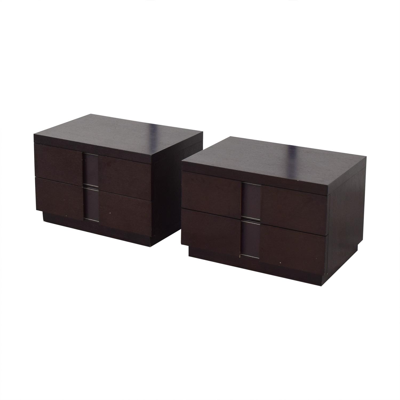 J&M Furniture J&M Furniture Two Drawer Nightstands dark brown