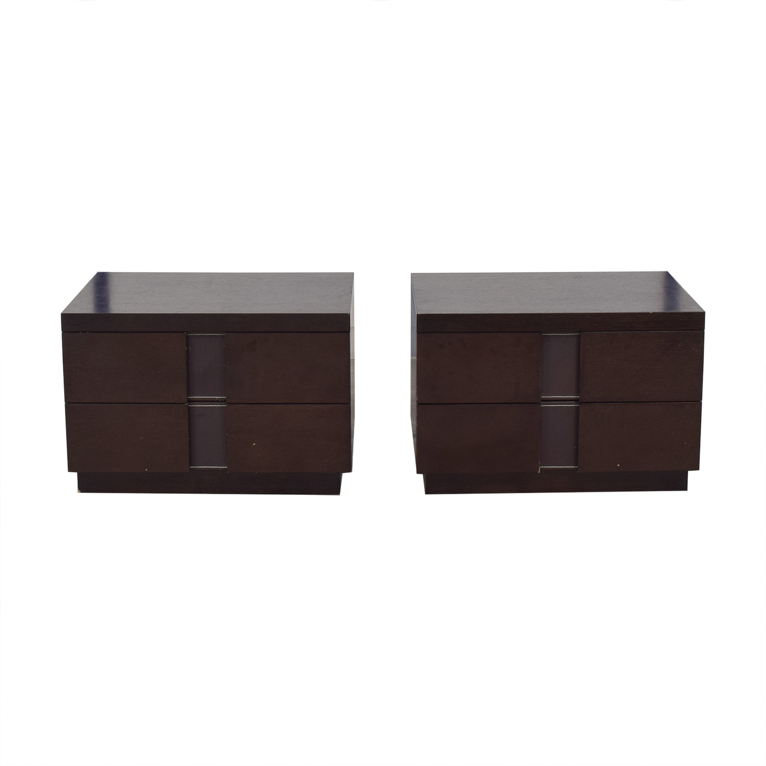 J&M Furniture J&M Furniture Two Drawer Nightstands End Tables
