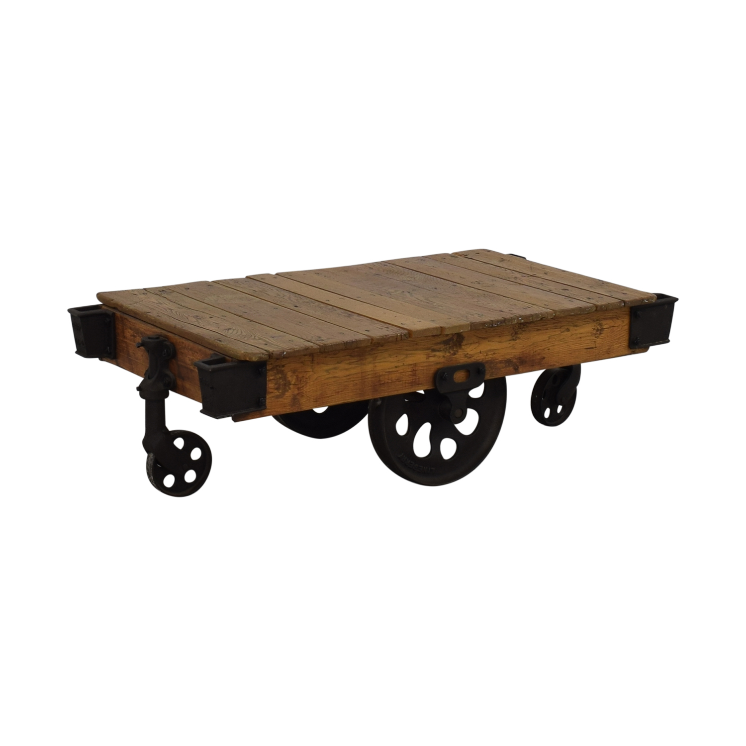 Restoration Hardware Factory Cart Coffee Table Restoration Hardware