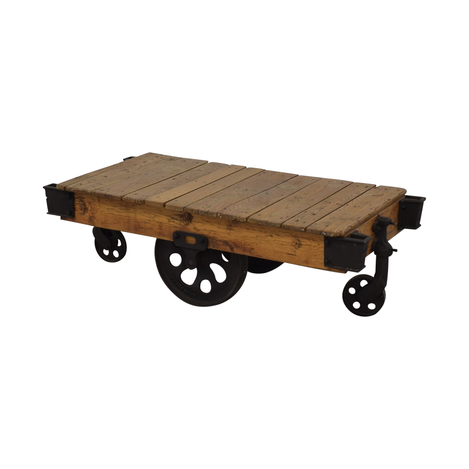 Restoration Hardware Factory Cart Coffee Table sale
