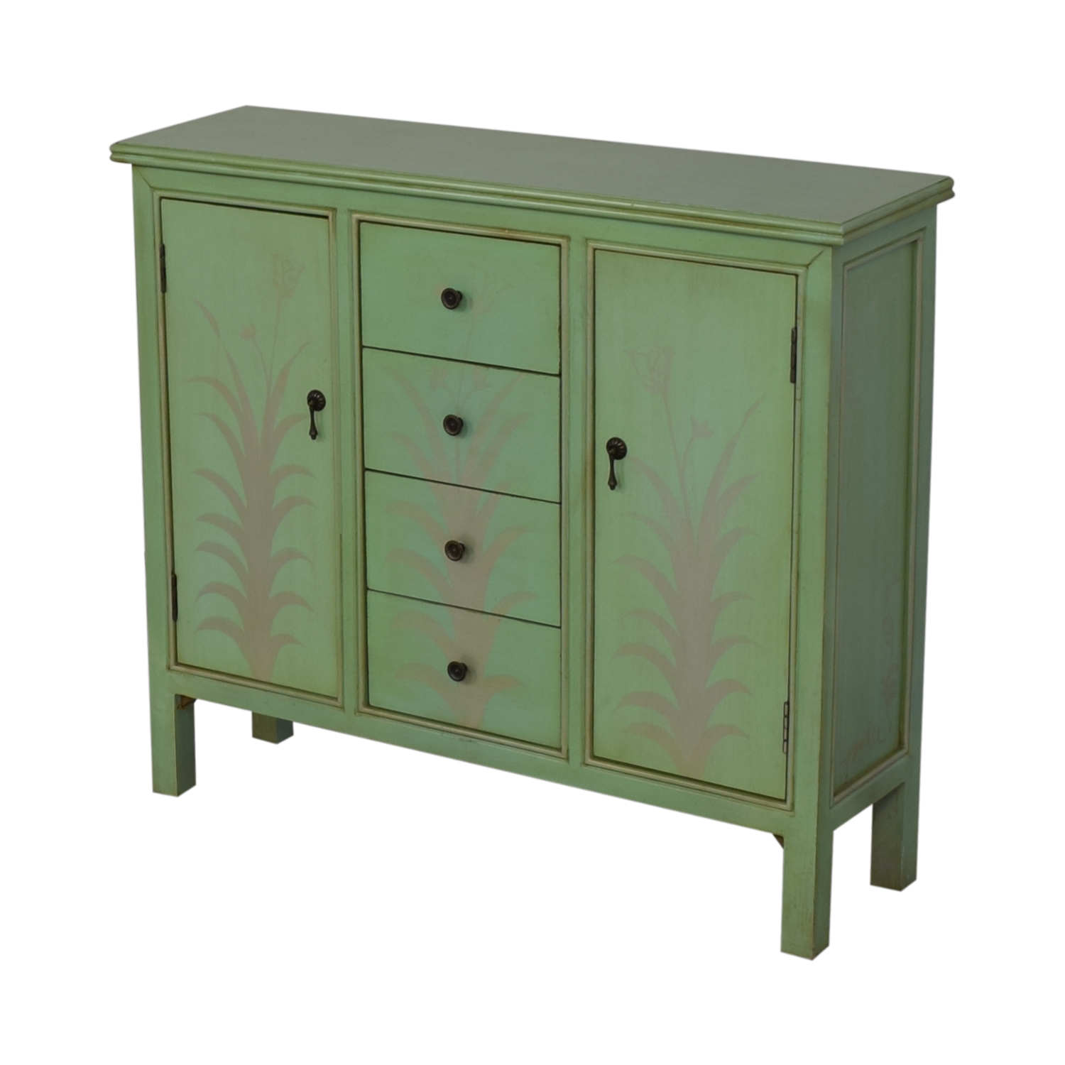 shop Raymour & Flanigan Mint Green Accent Chest Raymour & Flanigan