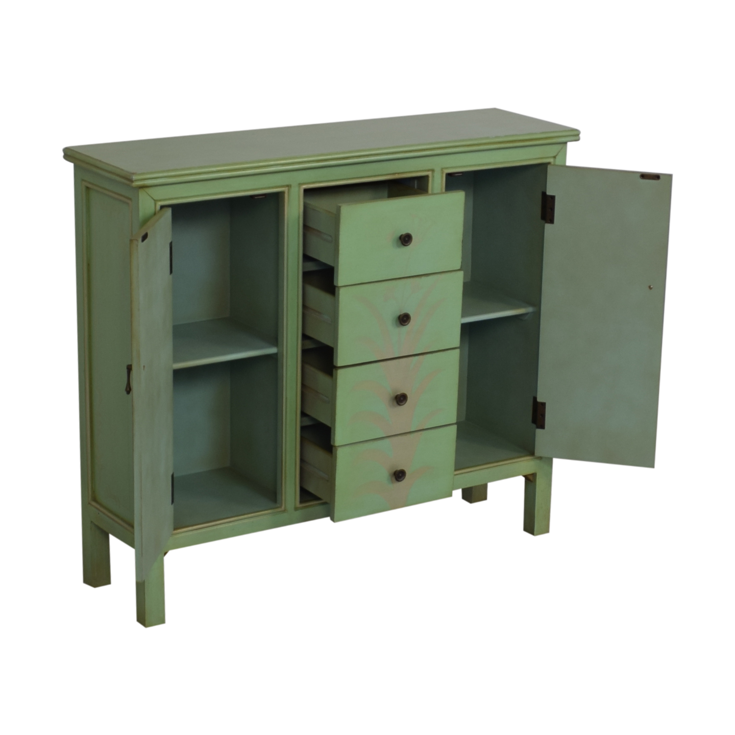 Raymour & Flanigan Raymour & Flanigan Mint Green Accent Chest green