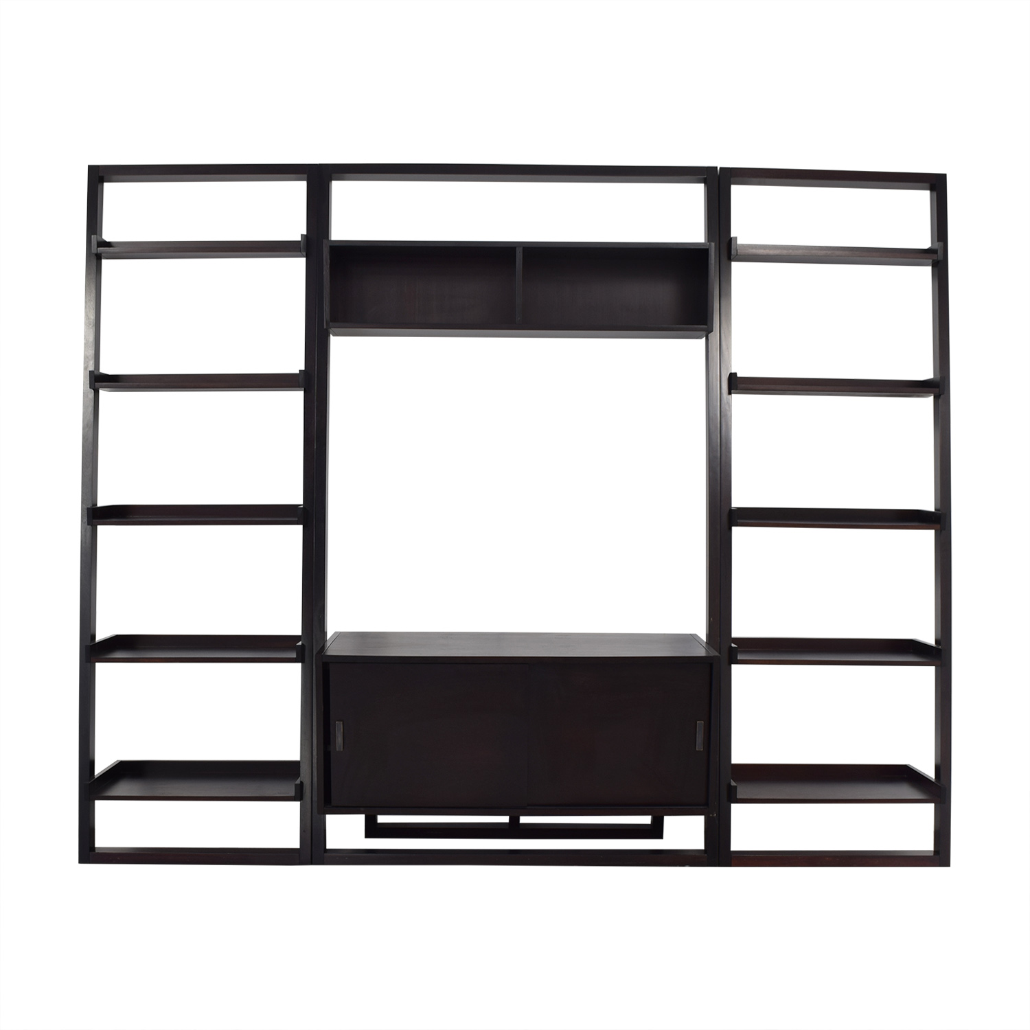 Crate & Barrel Crate & Barrel Sawyer Media Stand with Bookcases nj