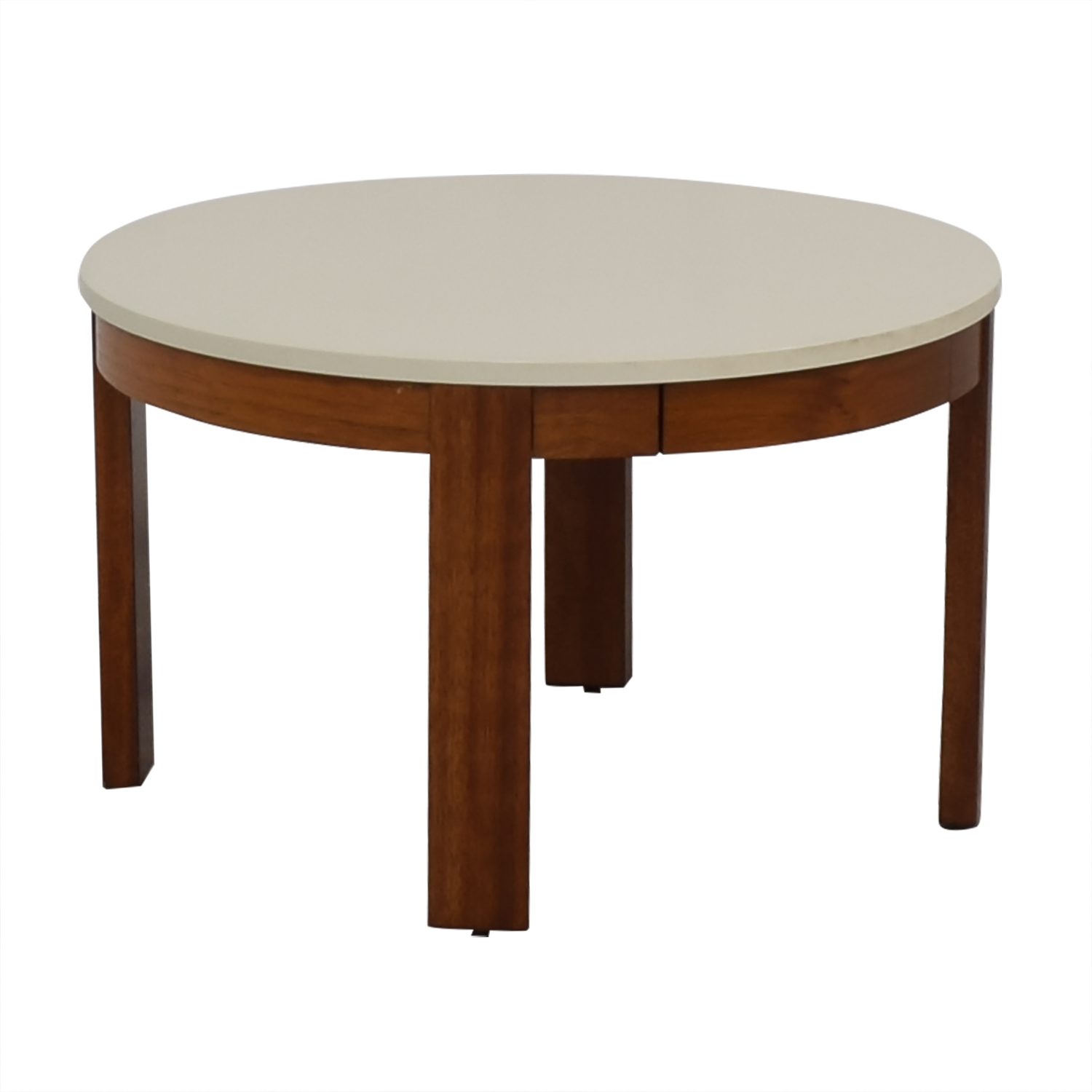Crate & Barrel Crate & Barrel Small Coffee Table white & brown