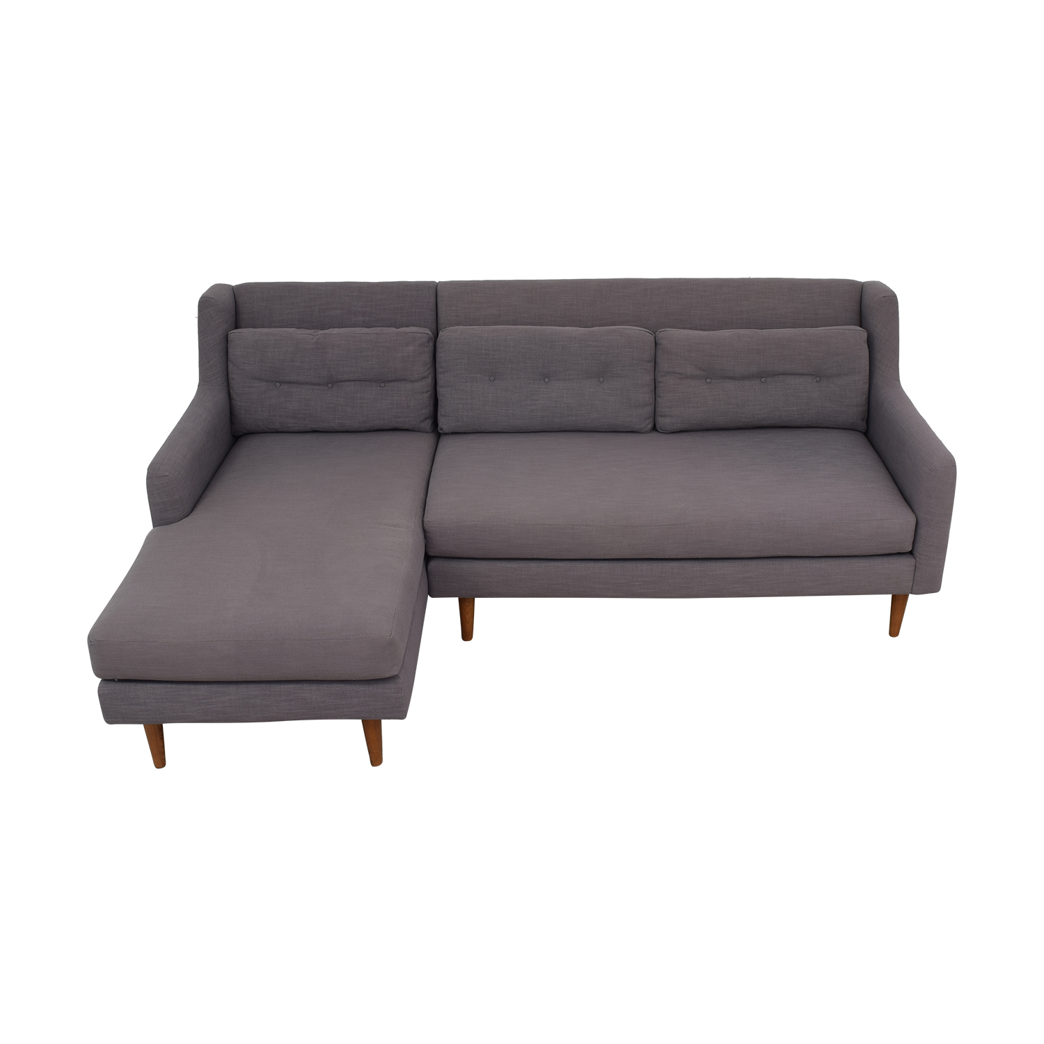 buy West Elm Crosby Mid Century Sectional Sofa with Chaise West Elm Sectionals