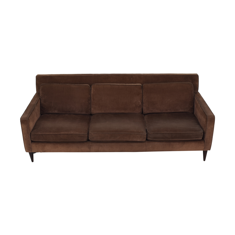 Crate & Barrel Rochelle Mid Century Modern  Sofa sale