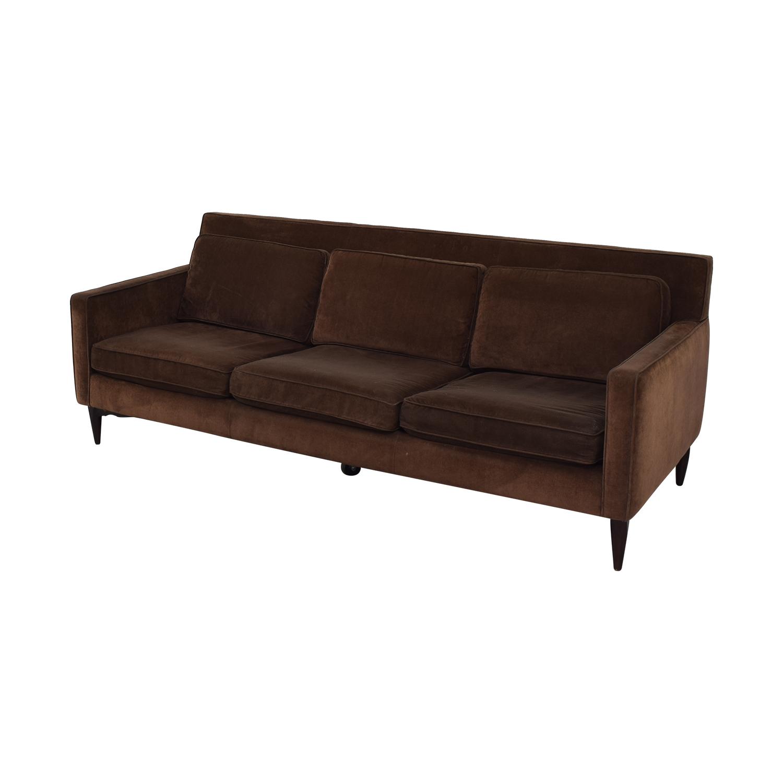 Crate & Barrel Crate & Barrel Rochelle Mid Century Modern  Sofa discount