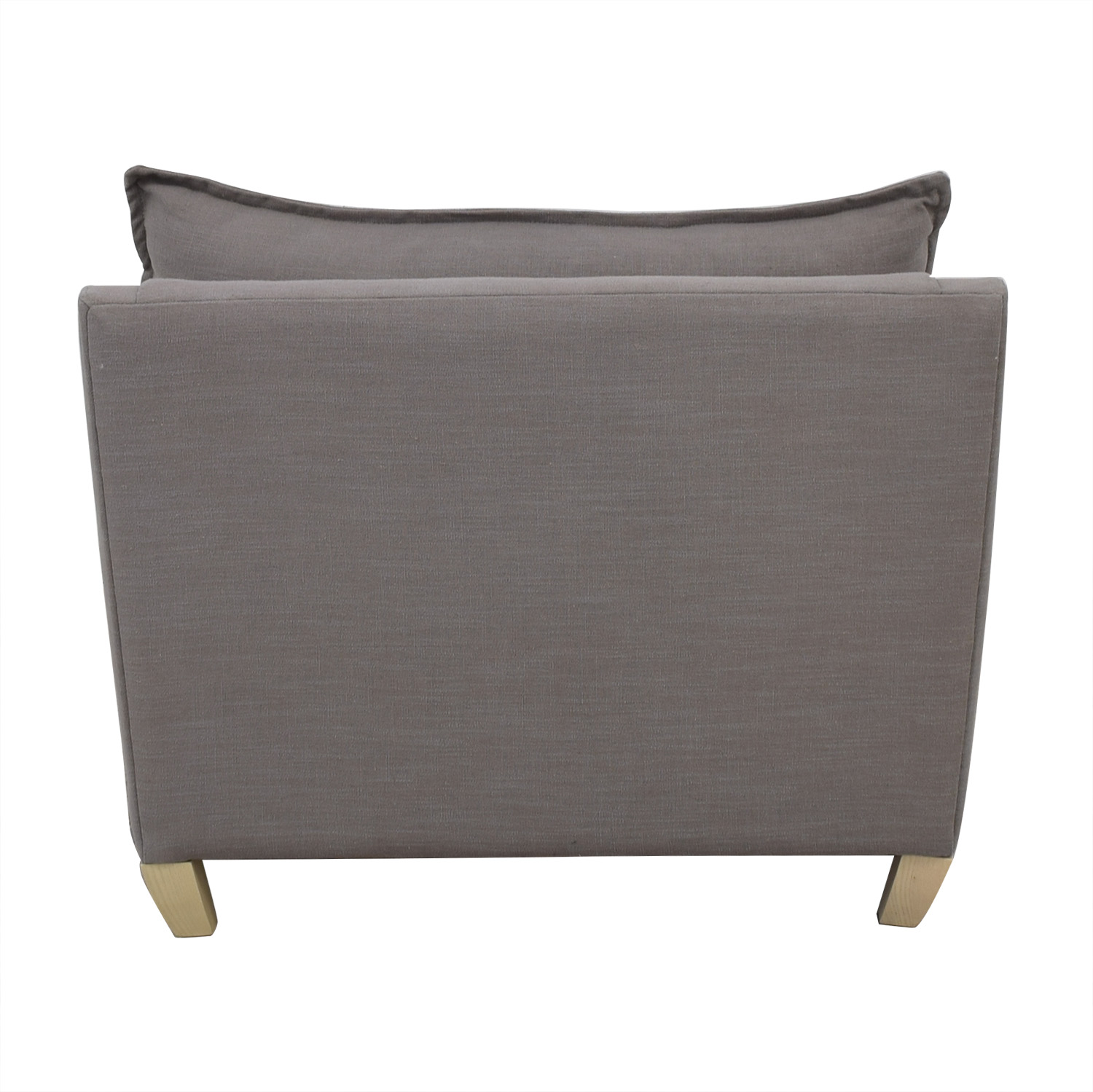 West Elm Gray Bliss Down Filled Chair and a Half sale