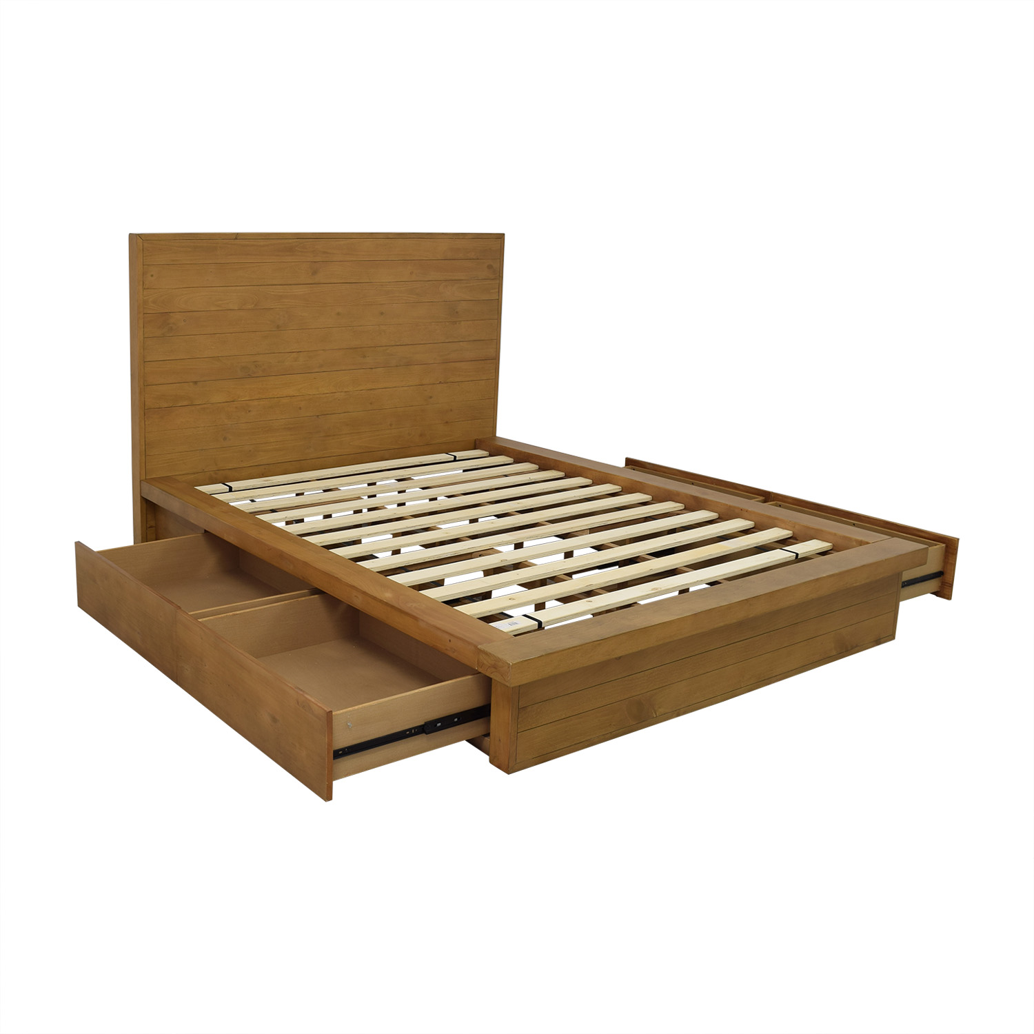 buy Macy's Macy's Albine Wood Storage Queen Platform Bed online