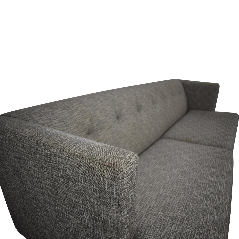CB2 CB2 Avec Tufted Sofa dimensions