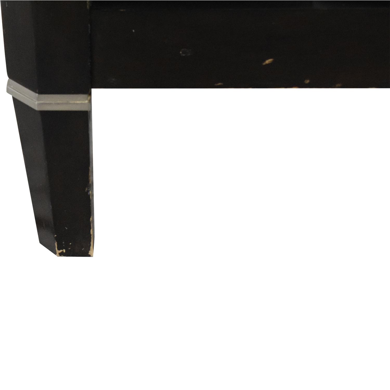 Bernhardt Bernhardt Queen Panel Bed dark brown & white