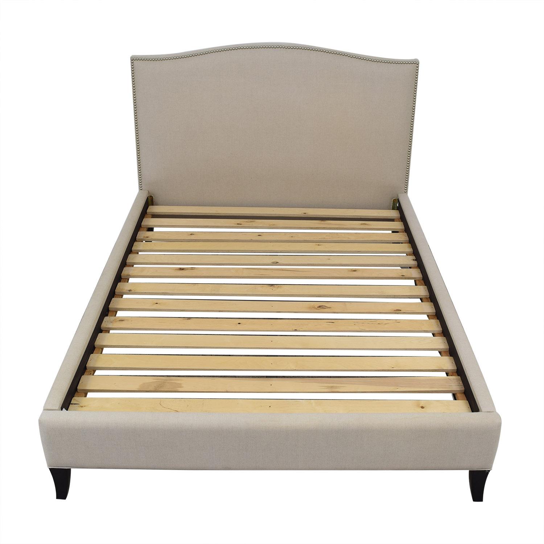 Crate & Barrel Colette Queen Upholstered Bed Crate & Barrel
