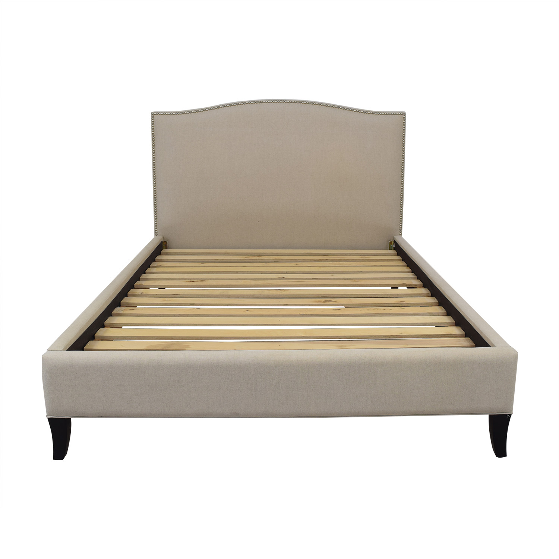 Crate & Barrel Crate & Barrel Colette Queen Upholstered Bed discount