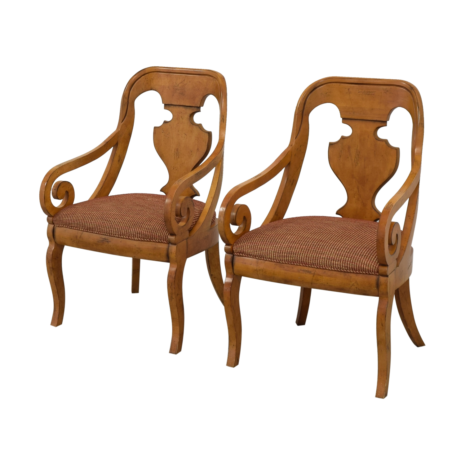Lillian August Lillian August Upholstered Side Chairs light brown & red