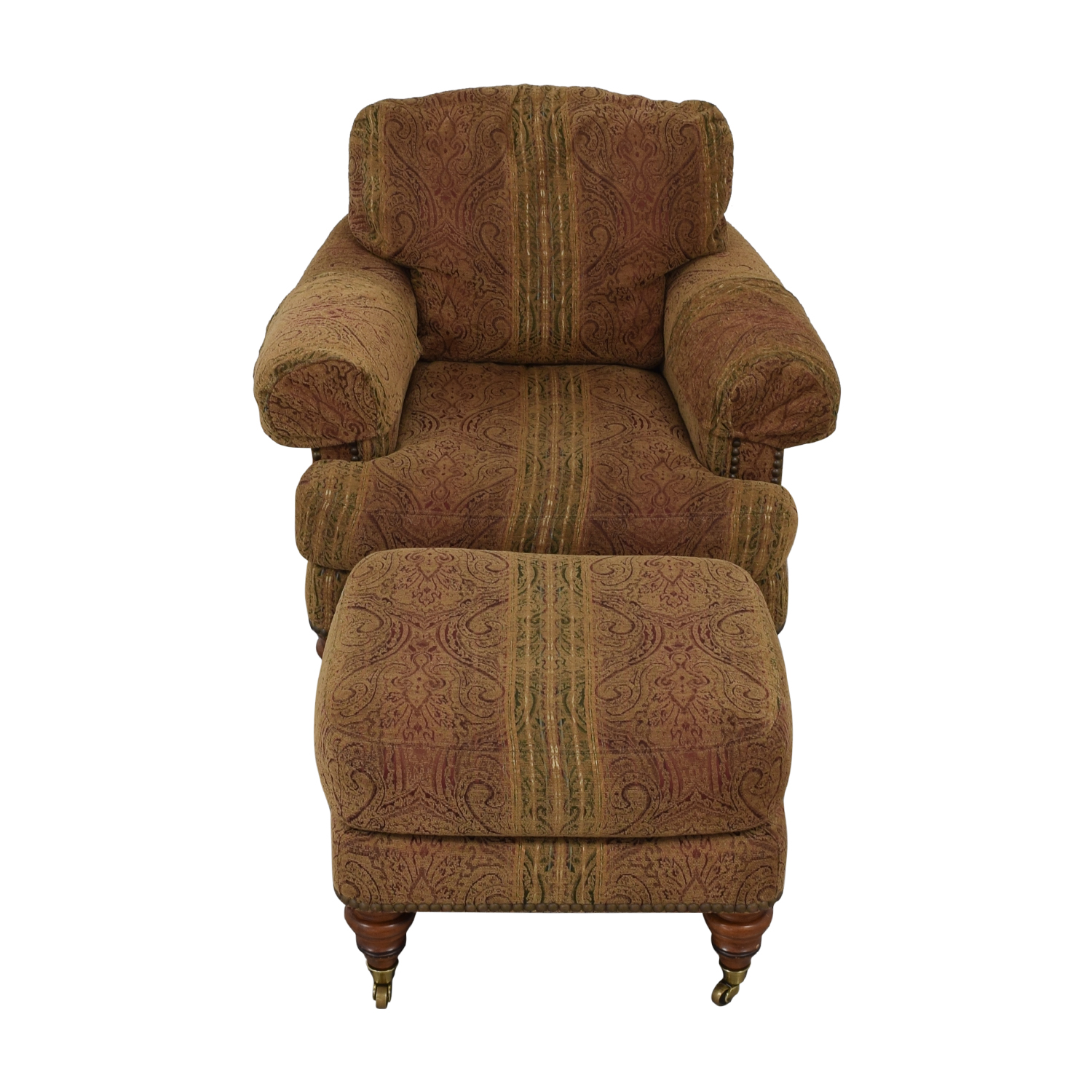 shop Lillian August Upholstered Chair with Ottoman Lillian August