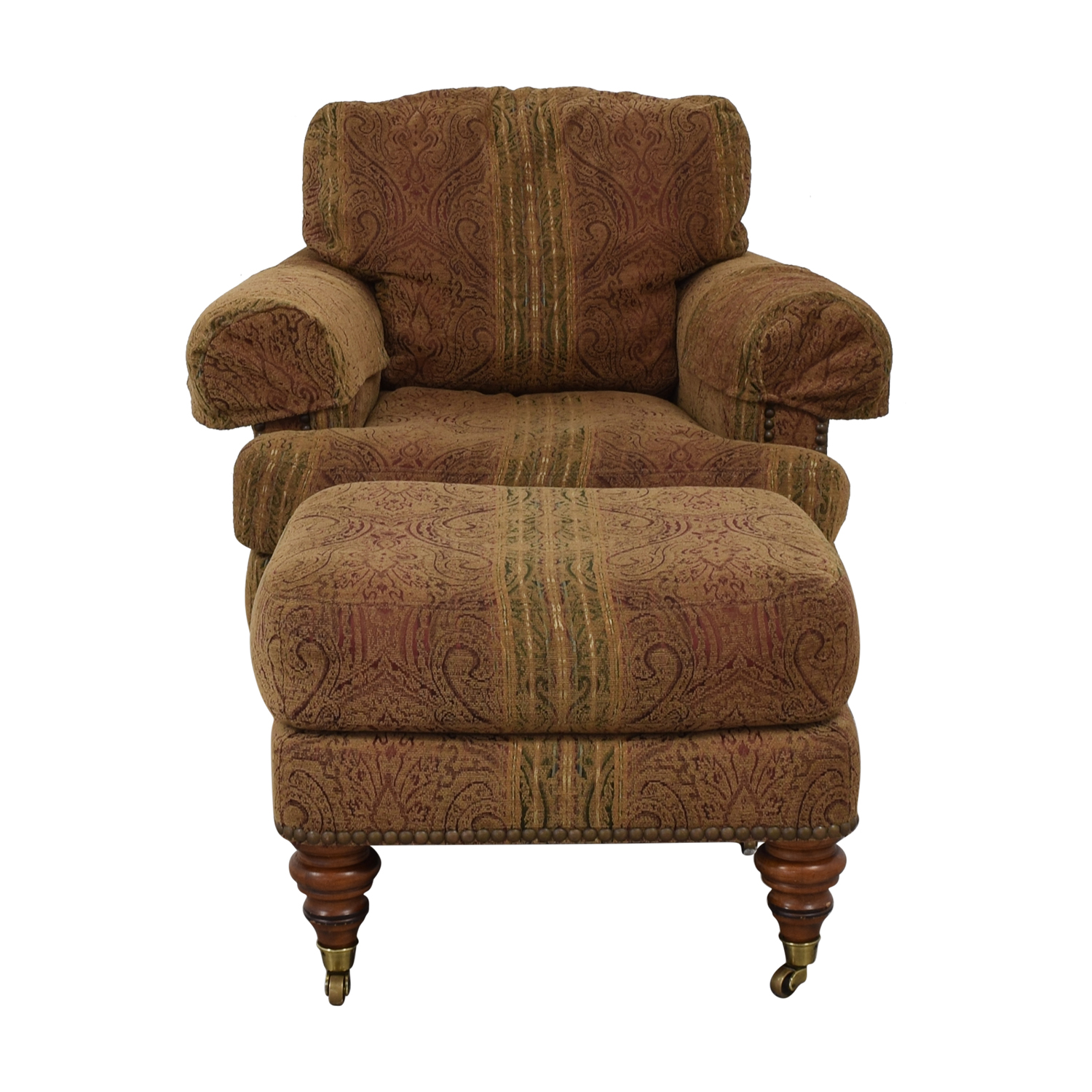Lillian August Lillian August Upholstered Chair with Ottoman Chairs
