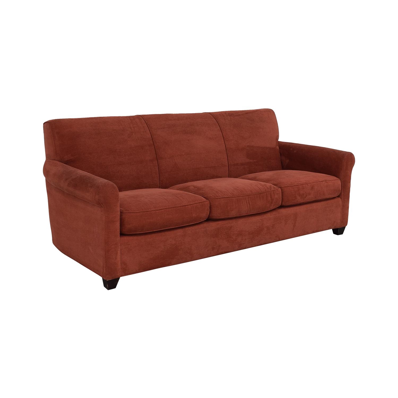 shop Crate & Barrel Three Cushion Sofa Crate & Barrel Classic Sofas