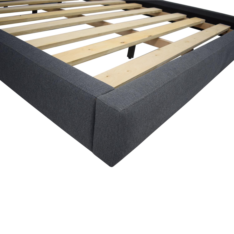 buy Crate & Barrel Tate Queen Upholstered Bed Crate & Barrel Bed Frames