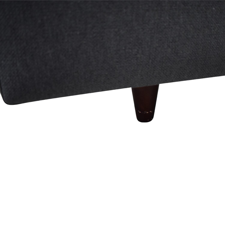 Crate & Barrel Crate & Barrel Tate Queen Upholstered Bed discount
