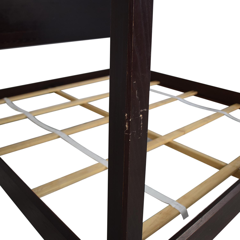 Bloomingdale's Bloomingdale's Canopy King Size Bed with Headboard dark brown