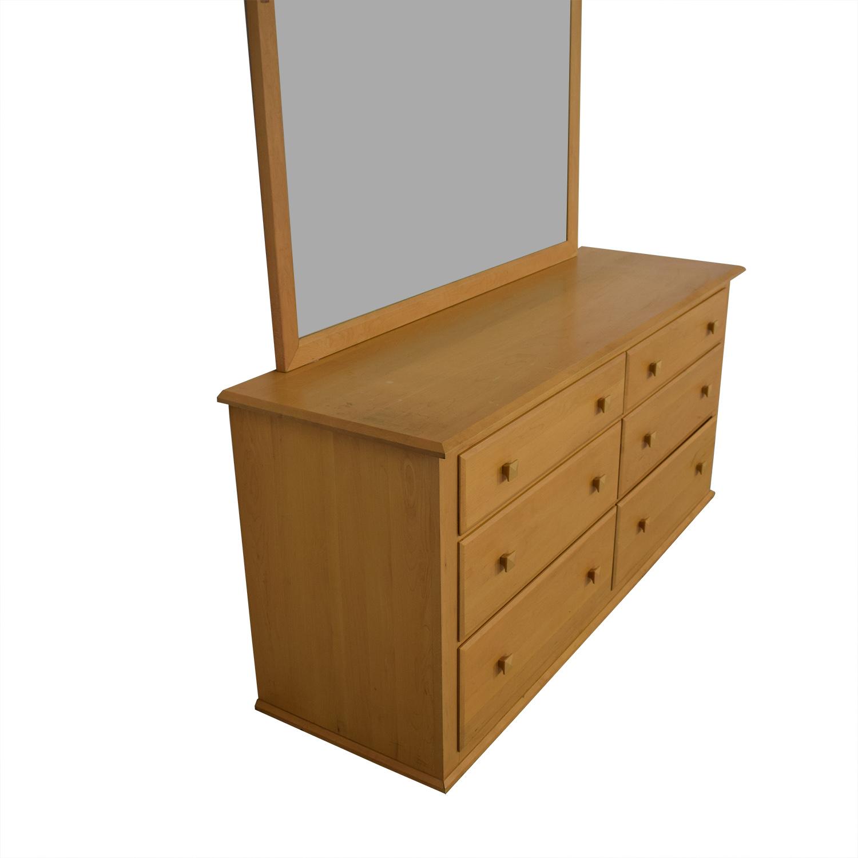 Ethan Allen Six-Drawer Dresser with Mirror / Storage