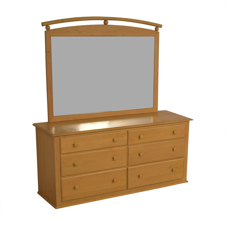 Ethan Allen Ethan Allen Six-Drawer Dresser with Mirror coupon