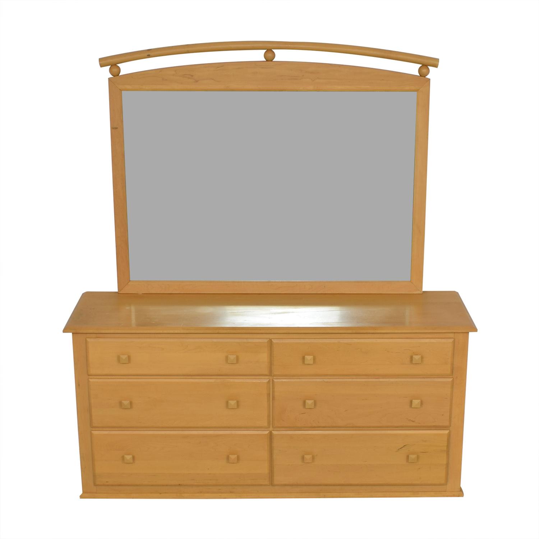 Ethan Allen Ethan Allen Six-Drawer Dresser with Mirror for sale