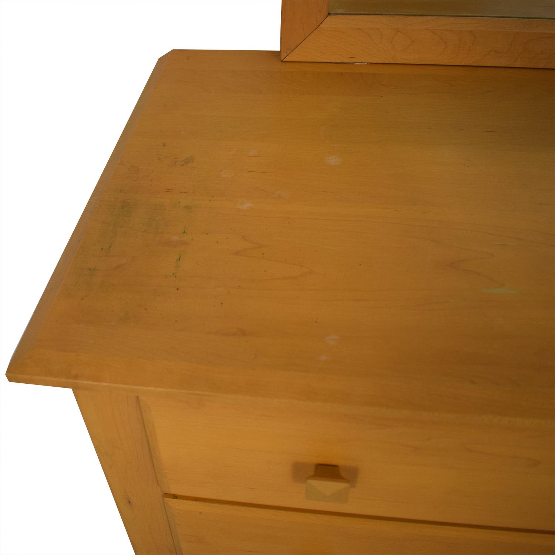 buy Ethan Allen Six-Drawer Dresser with Mirror Ethan Allen Dressers