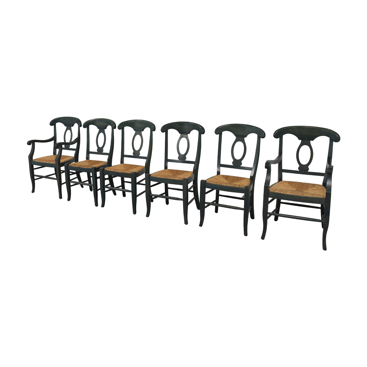 Pottery Barn Wood Napoleon Dining Chairs / Dining Chairs