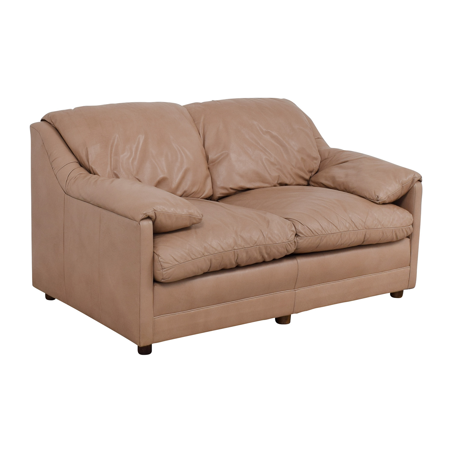 buy Hancock and Moore Hancock and Moore Leather Two Seat Love Seat online