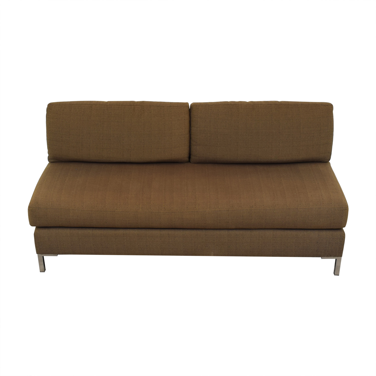 West Elm Armless Sofa / Sofas