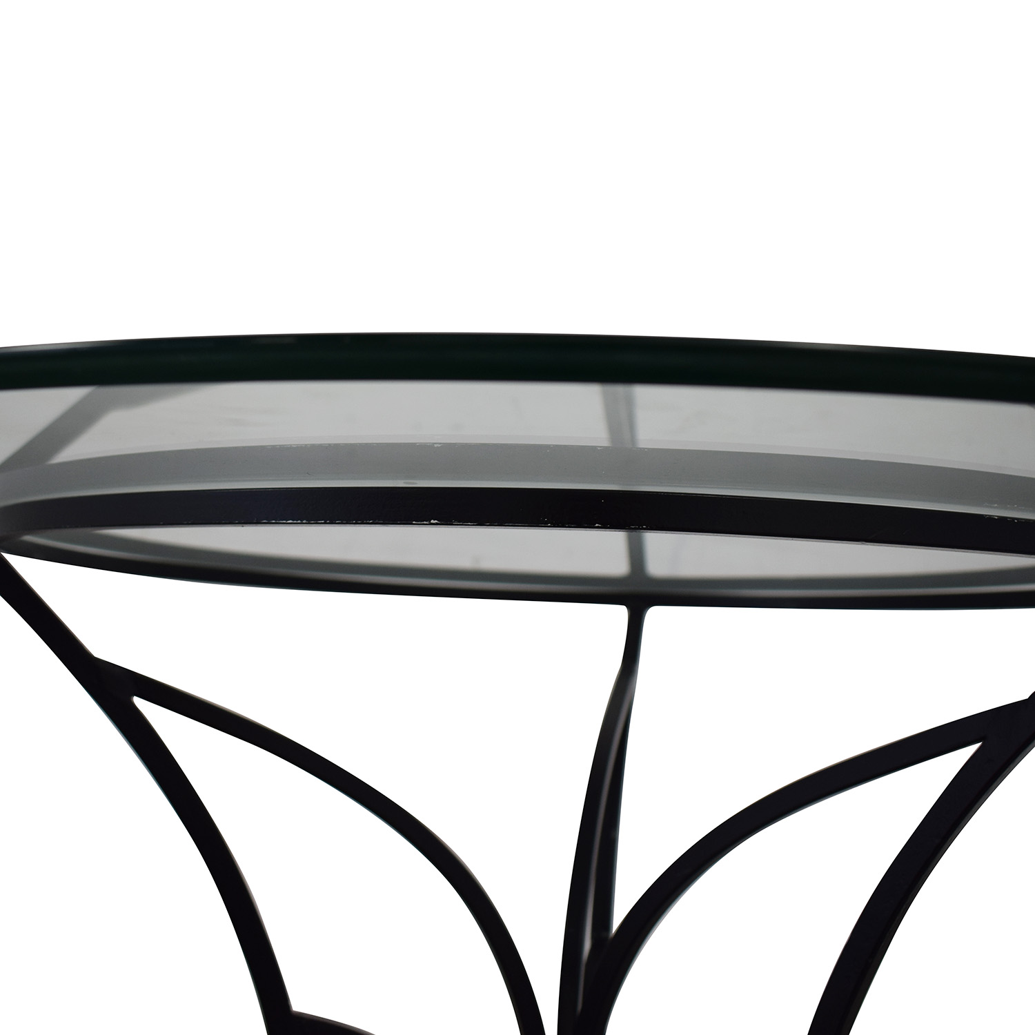 Pier 1 Pier One Glass Top Dining Table for sale