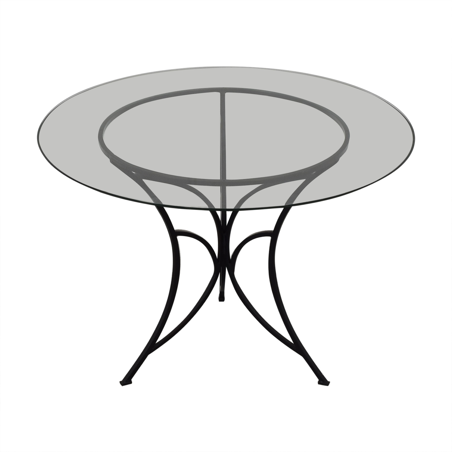 Pier 1 Pier One Glass Top Dining Table nj