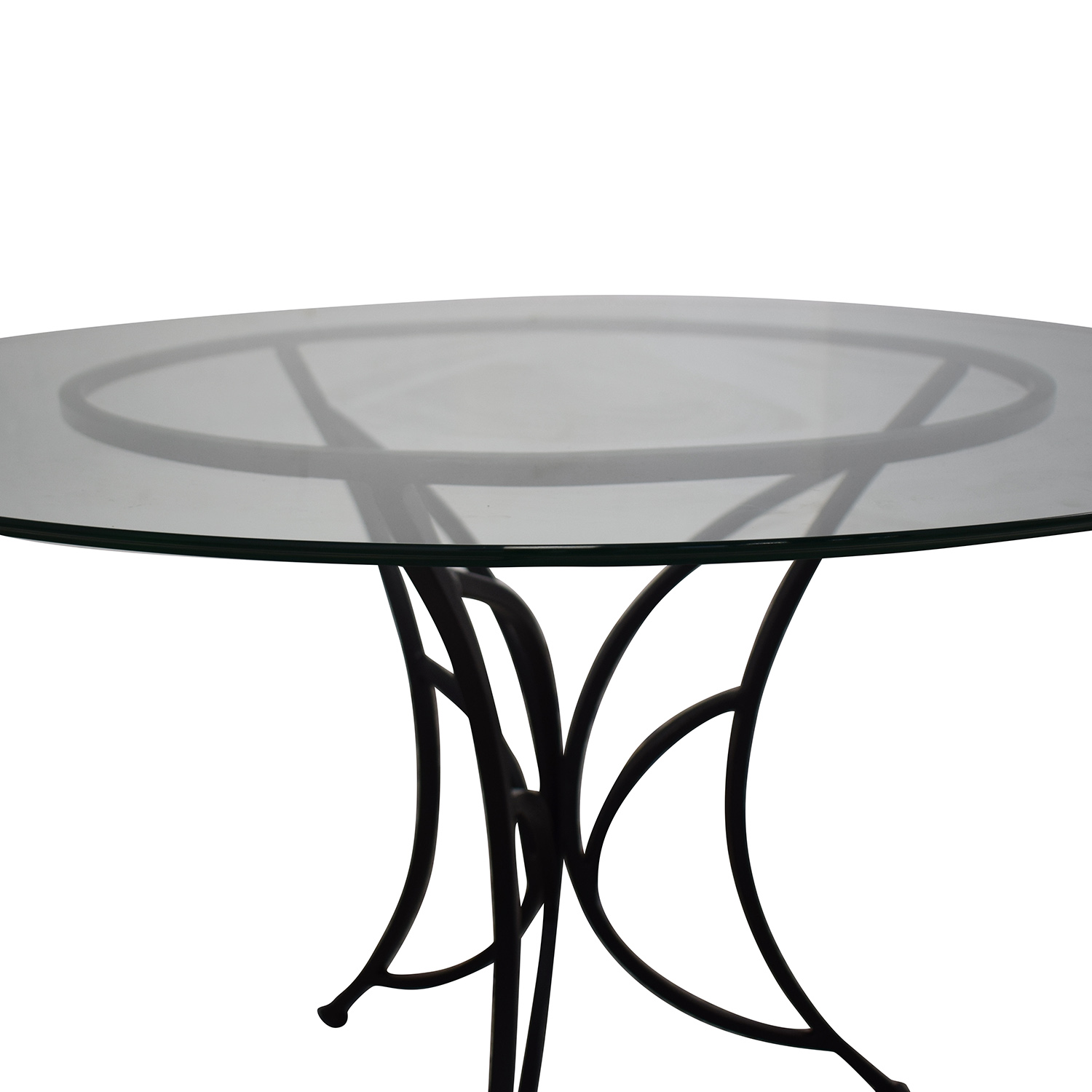 Pier One Glass Top Dining Table / Dinner Tables