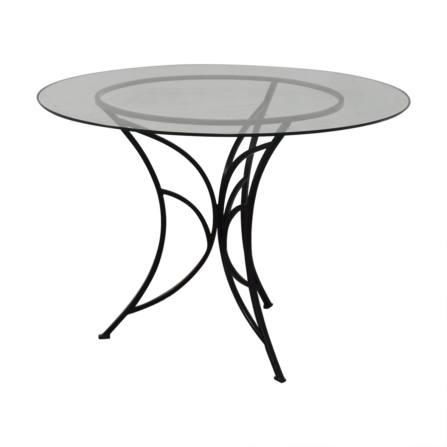 Pier 1 Pier One Glass Top Dining Table