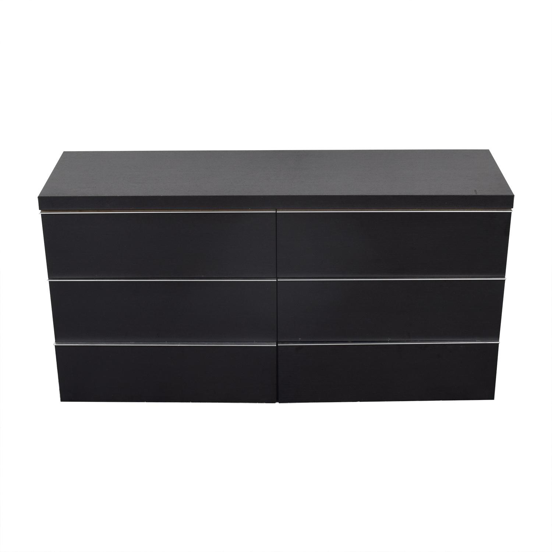 BoConcept BoConcept Black Six-Drawer Dresser nyc