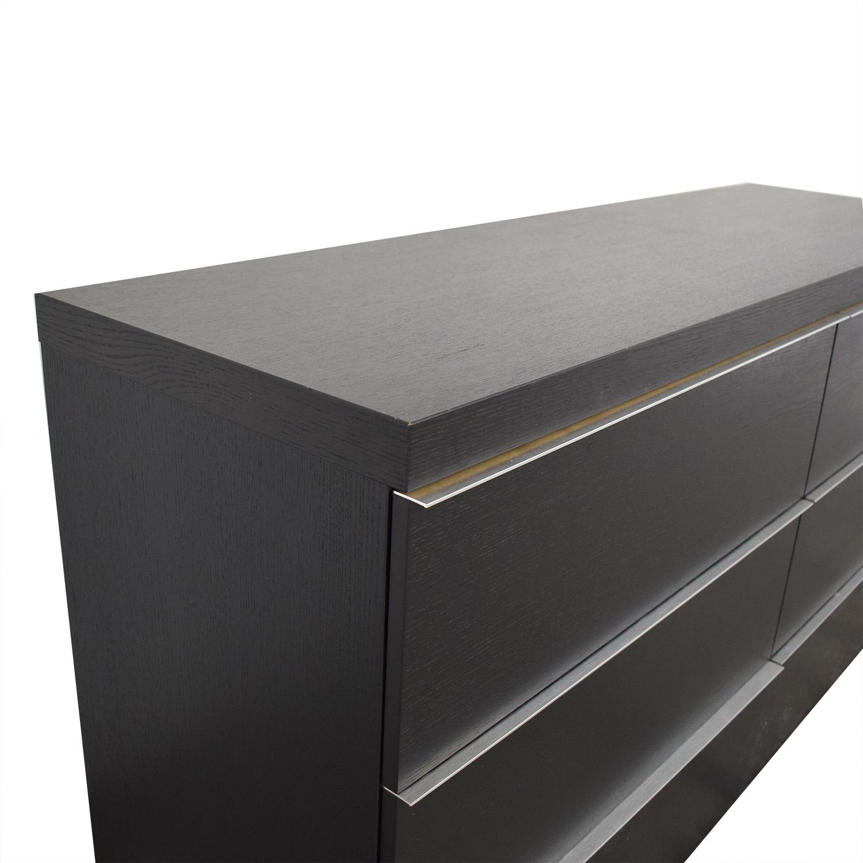 BoConcept Black Six-Drawer Dresser BoConcept