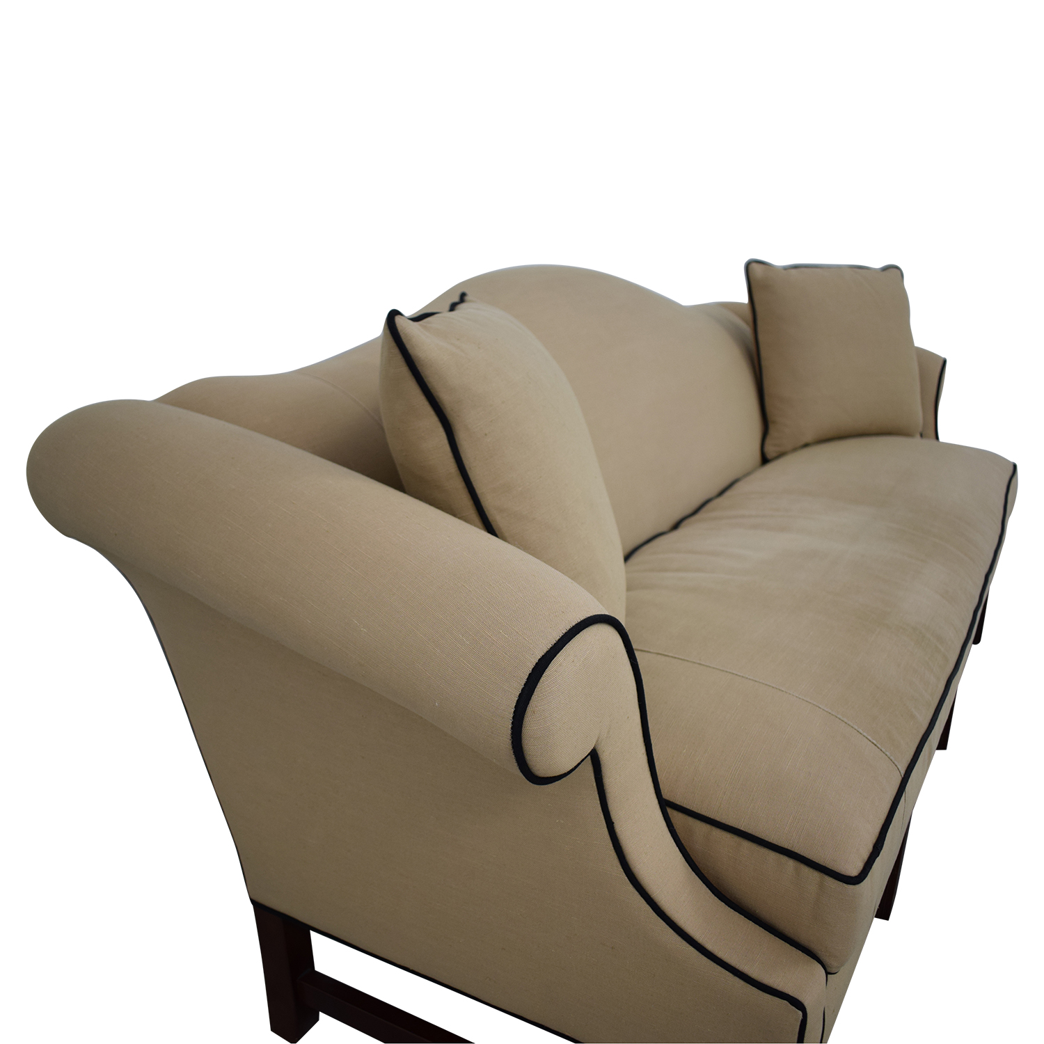 Upholstered Camel Back Sofa / Sofas