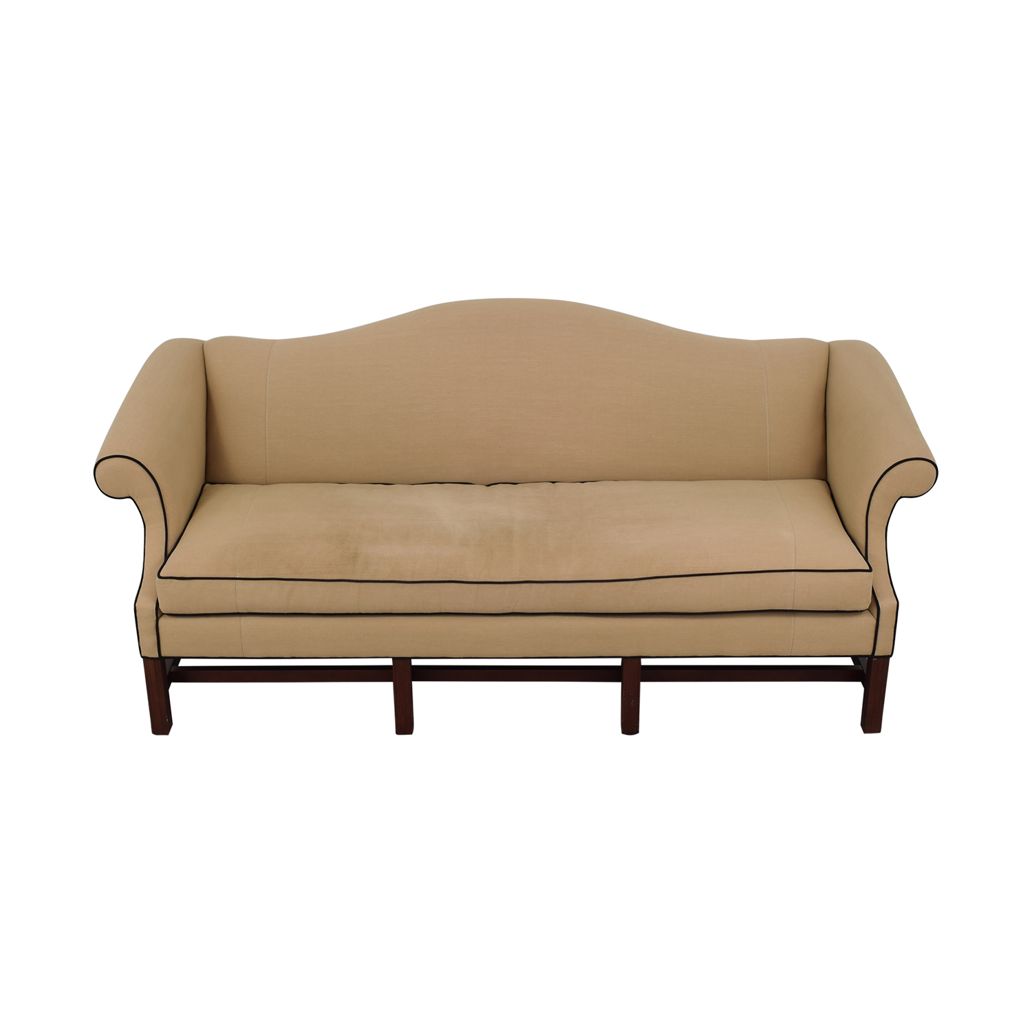 Upholstered Camel Back Sofa for sale