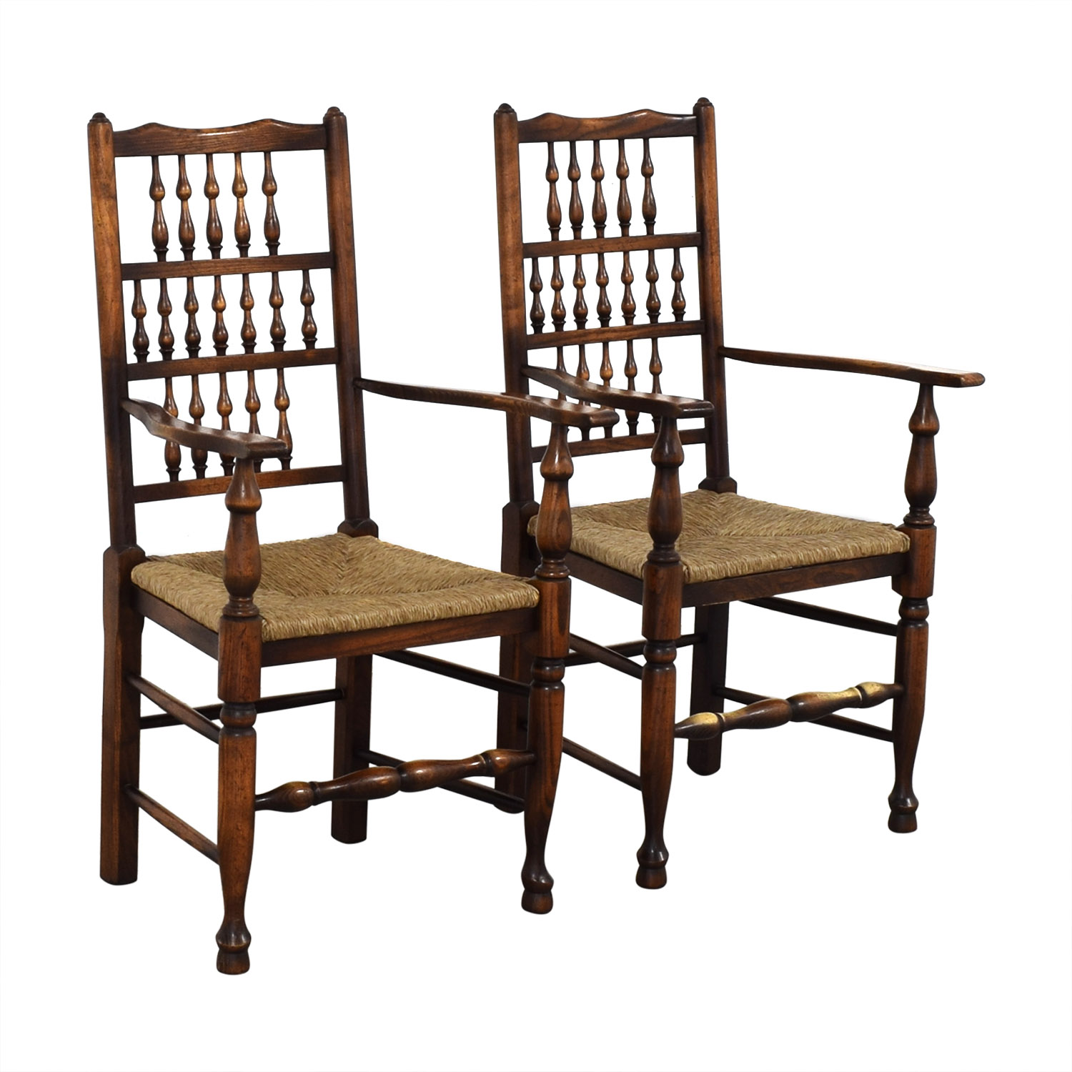 buy Wood and Cane Armchairs