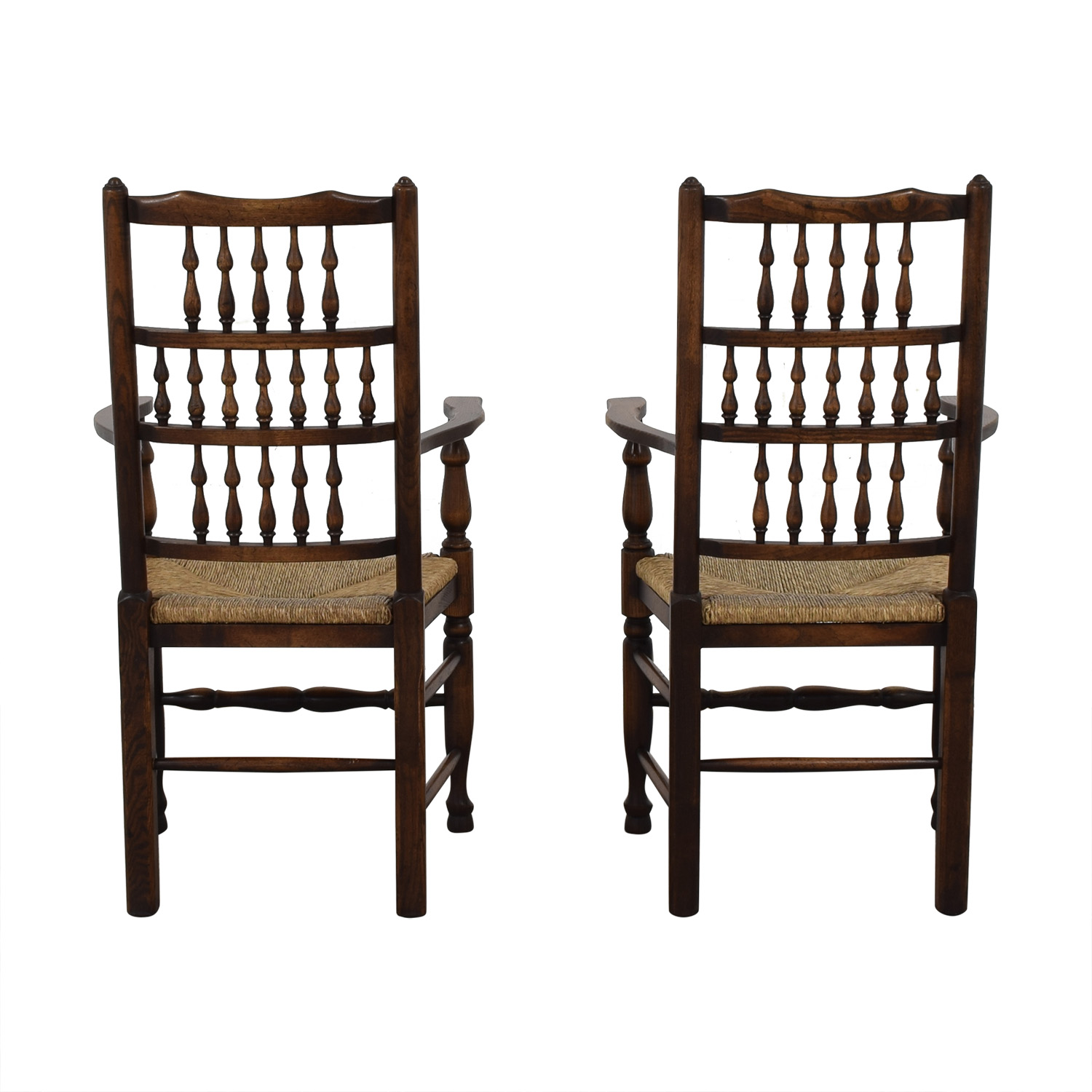 Wood and Cane Armchairs brown