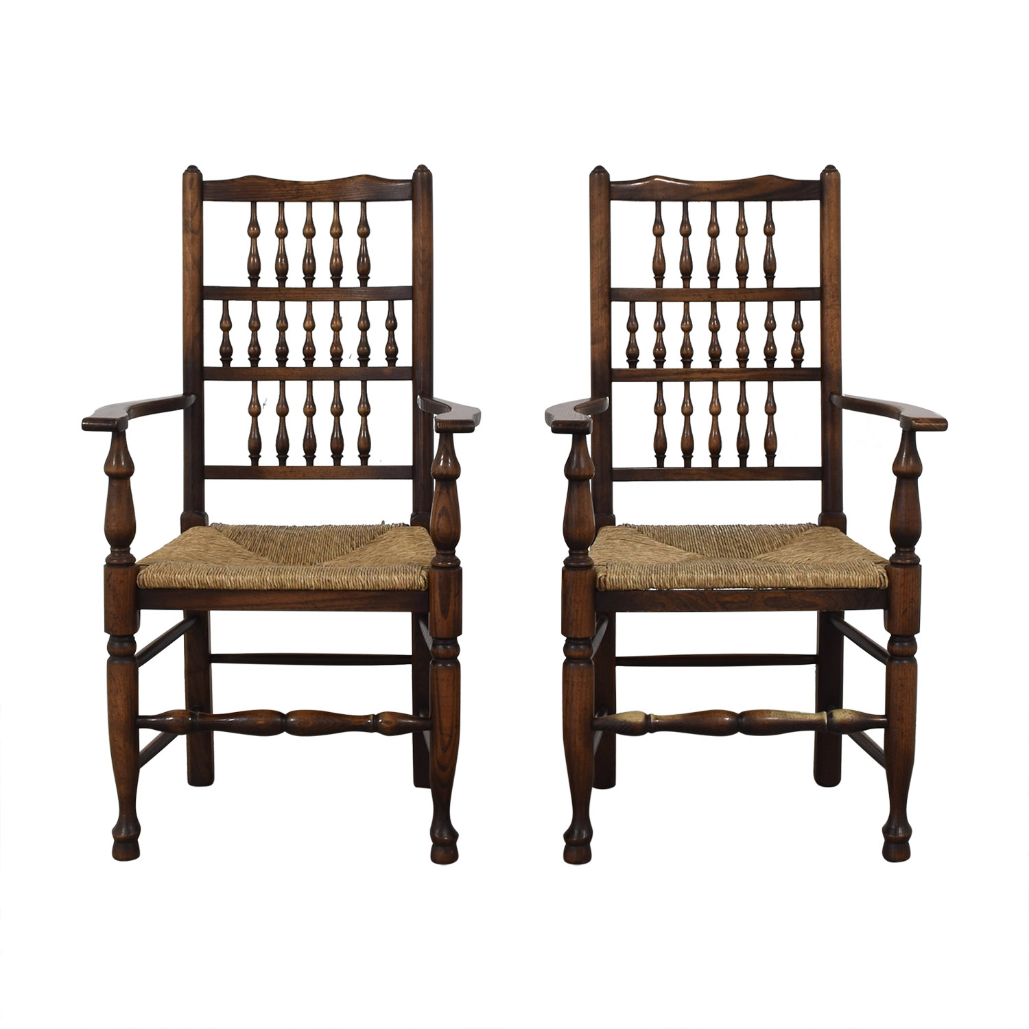 Wood and Cane Armchairs Chairs