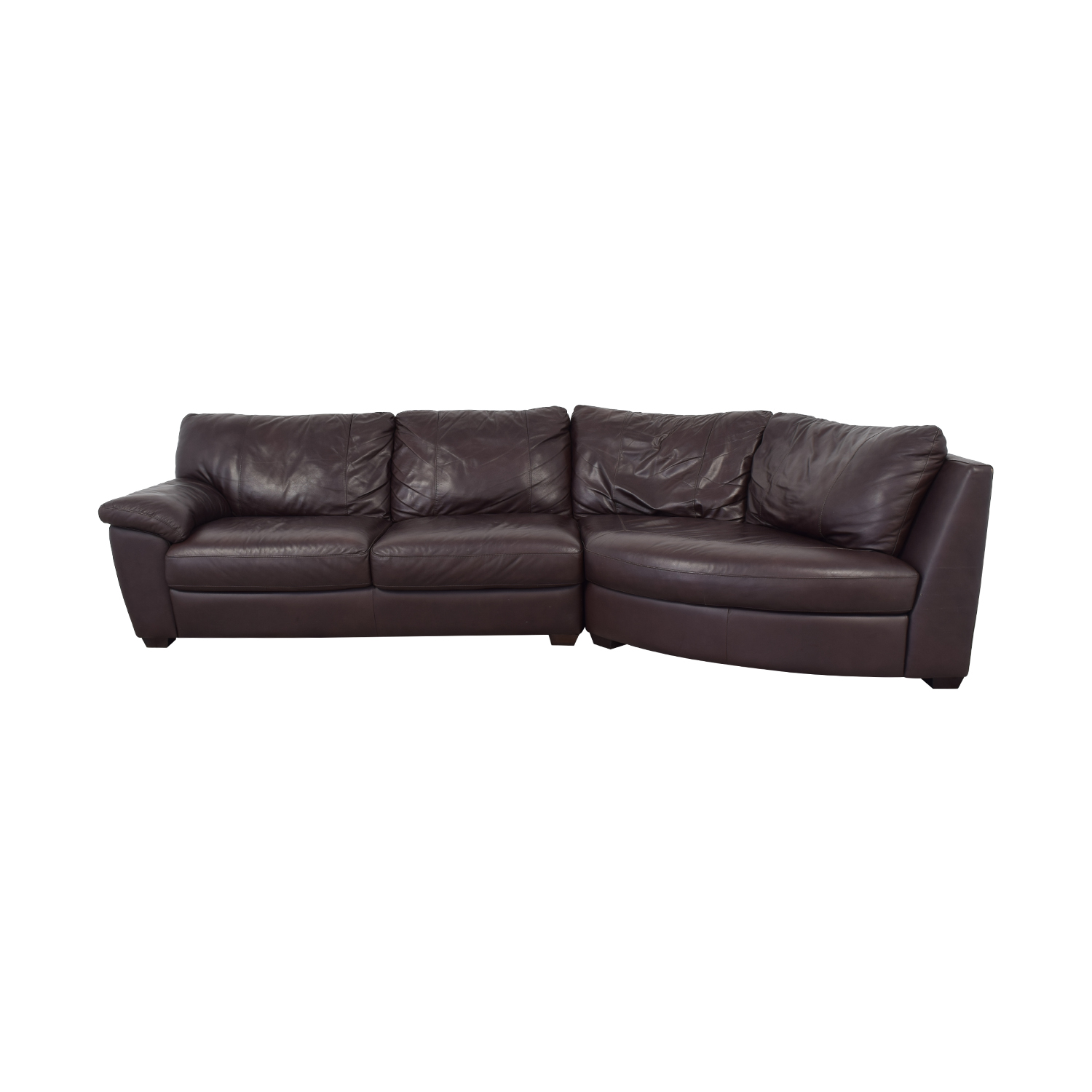shop IKEA Three Cushion Wedge Sectional Sofa  Sectionals