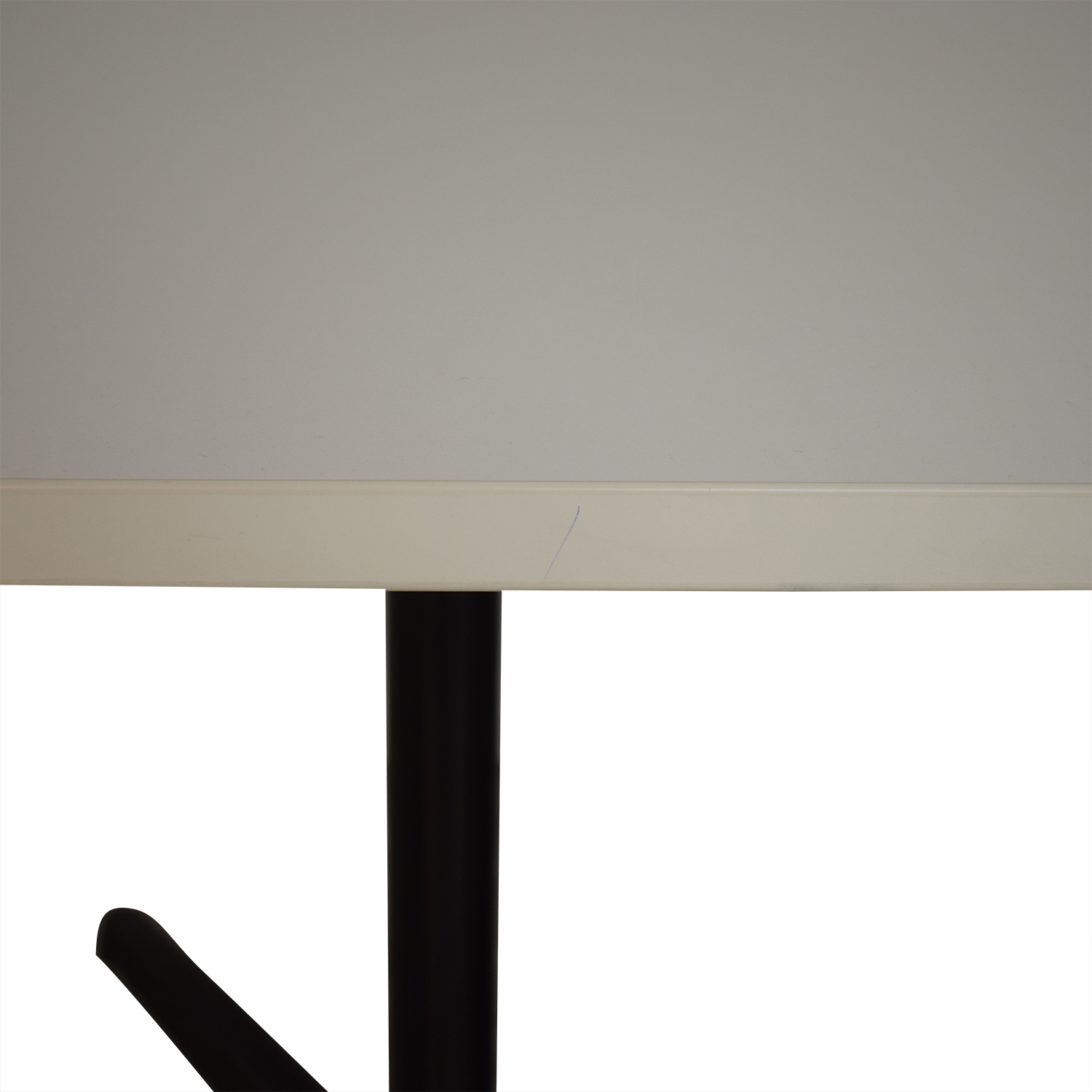 buy White Top with Black Steel Base Dining Table  Tables