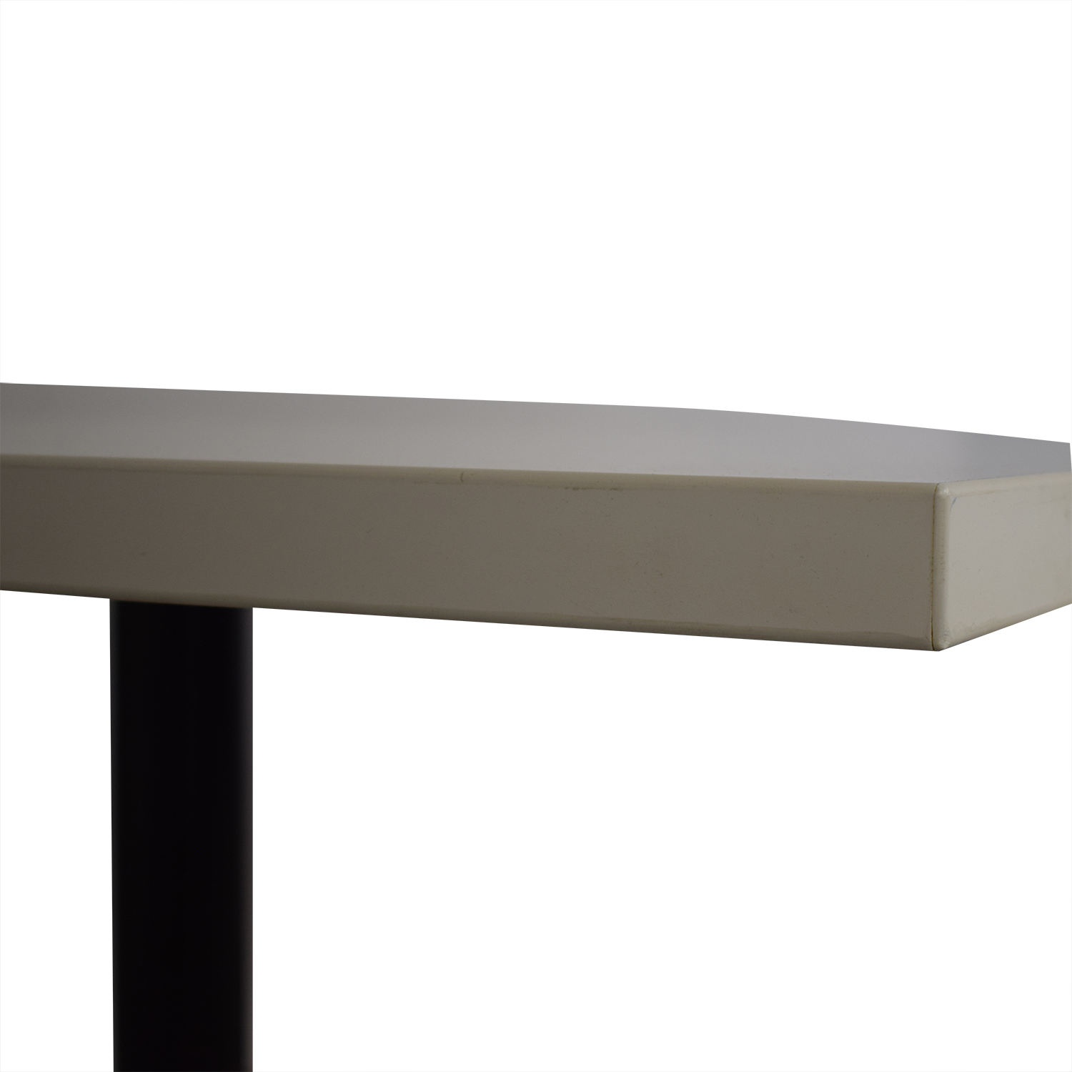 buy White Top with Black Steel Base Dining Table  Dinner Tables