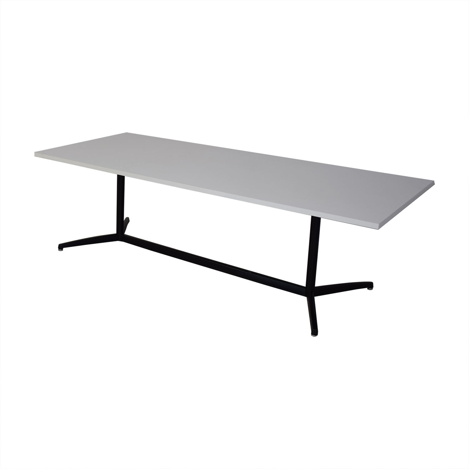 White Top with Black Steel Base Dining Table discount