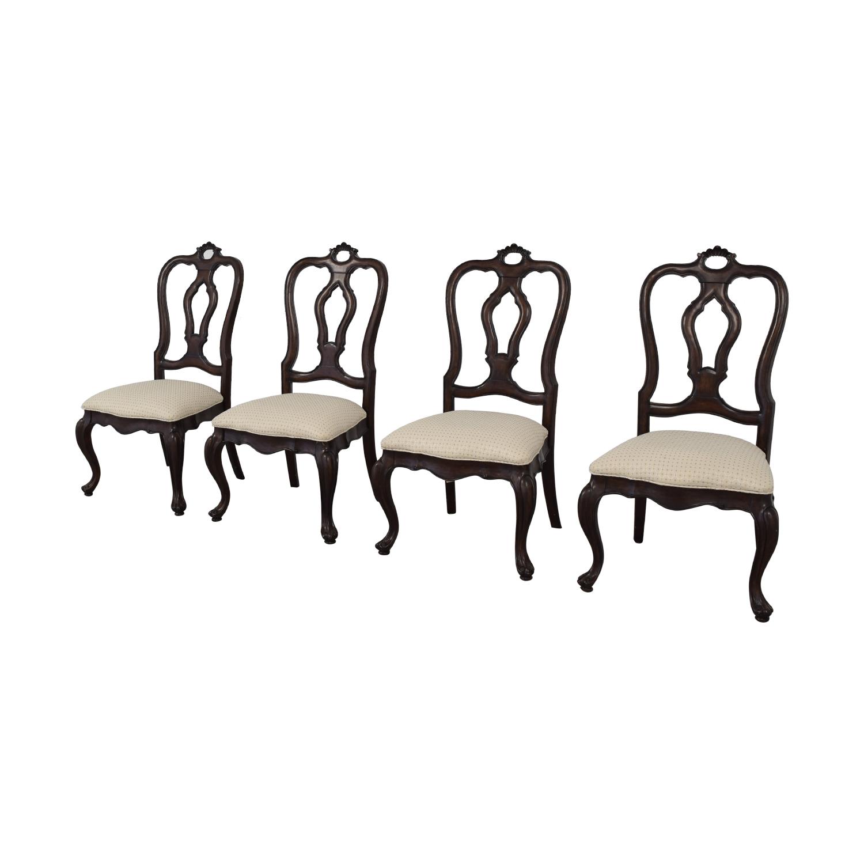 Thomasville Thomasville San Martino Dining Chairs dark brown and white