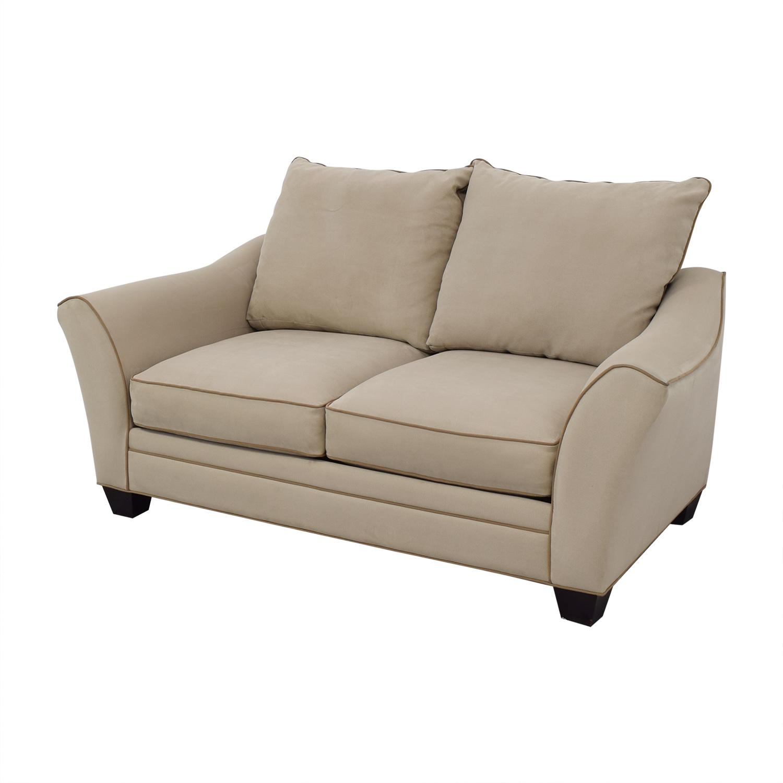 Groovy 83 Off Raymour Flanigan Raymour Flanigan Blairwood Microfiber Loveseat Sofas Andrewgaddart Wooden Chair Designs For Living Room Andrewgaddartcom
