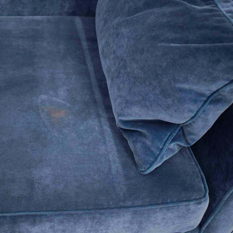shop HomeGoods HomeGoods Blue Velvet Divan online